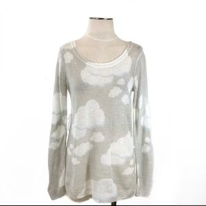 Fuzzy cloud sweater